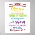 Sea ansioso para nada el 4:6 de los filipenses - 7 posters