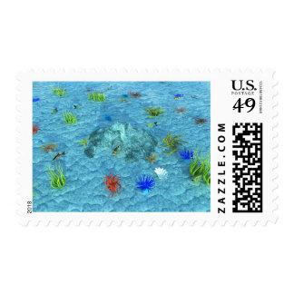 Sea Aquarium Postage Stamps