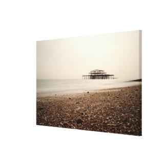 Sea at Brighton Beach Canvas Print