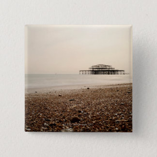 Sea at Brighton Beach Pinback Button