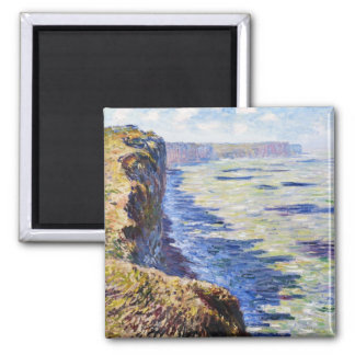 Sea at Fecamp, View from the Cliffs, 1881 2 Inch Square Magnet