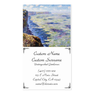 Sea at Fecamp, View from the Cliffs, 1881 Business Card