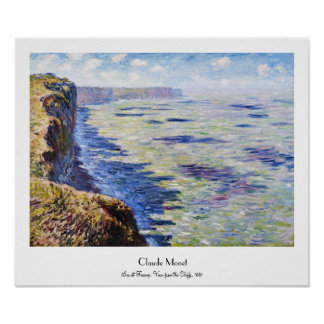 Sea at Fecamp, View from the Cliffs, 1881 Poster