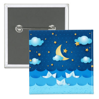 Sea at Night Pinback Buttons