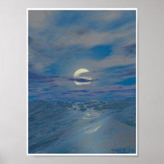 Sea at Night Poster
