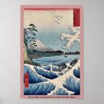 Sea at Satta in Suruga Province by Ando, Hiroshige Print