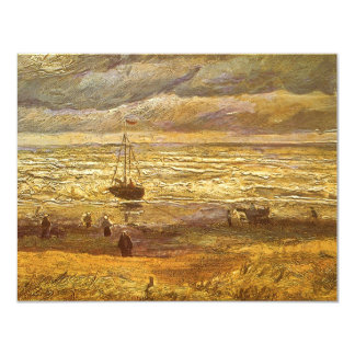 Sea at Scheveningen by Vincent van Gogh 4.25x5.5 Paper Invitation Card
