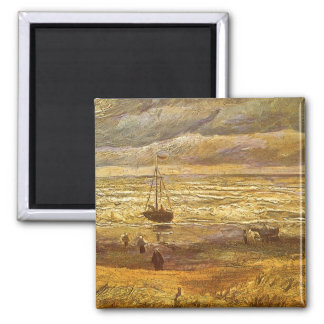 Sea at Scheveningen by Vincent van Gogh Magnet
