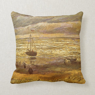 Sea at Scheveningen by Vincent van Gogh Pillows