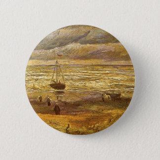 Sea at Scheveningen by Vincent van Gogh Pinback Button