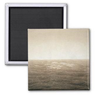 Sea at Sunrise, 1828 2 Inch Square Magnet