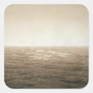 Sea at Sunrise, 1828 Square Sticker
