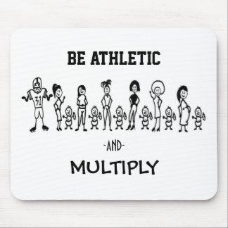 Sea atlético y multiplique Mousepad