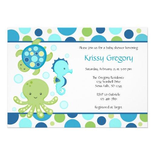 sea baby shower invitations 5 x 7 invitation card zazzle