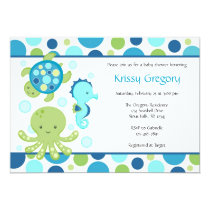 Sea Baby Shower Invitations