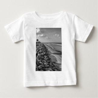 Sea Barrier Atlantic Ocean Georgia Black and White Baby T-Shirt
