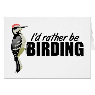 Sea bastante Birding Tarjeta De Felicitación