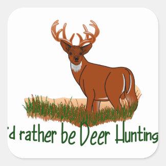 Sea bastante caza de los ciervos pegatina cuadrada