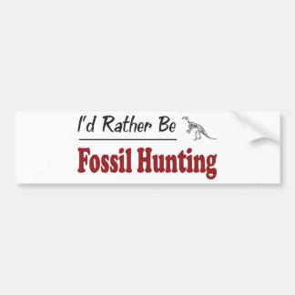 Sea bastante caza fósil pegatina para auto