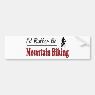 Sea bastante el Biking de la montaña Etiqueta De Parachoque