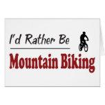 Sea bastante el Biking de la montaña Felicitación