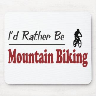 Sea bastante el Biking de la montaña Alfombrillas De Ratón