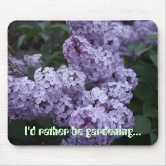 Sea bastante flores Mousepad de la lila que cultiv