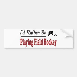 Sea bastante hockey de terreno de juego pegatina para auto