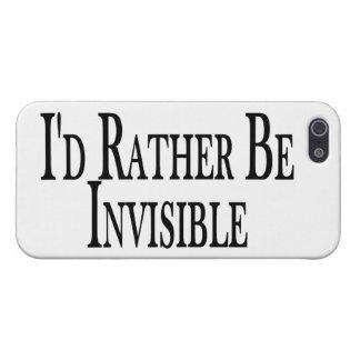Sea bastante invisible iPhone 5 cárcasas