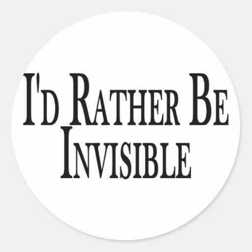 Sea bastante invisible pegatina redonda
