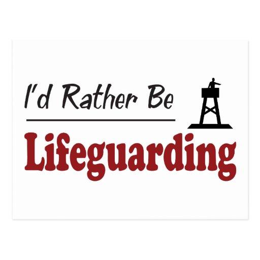 Sea bastante Lifeguarding Tarjeta Postal