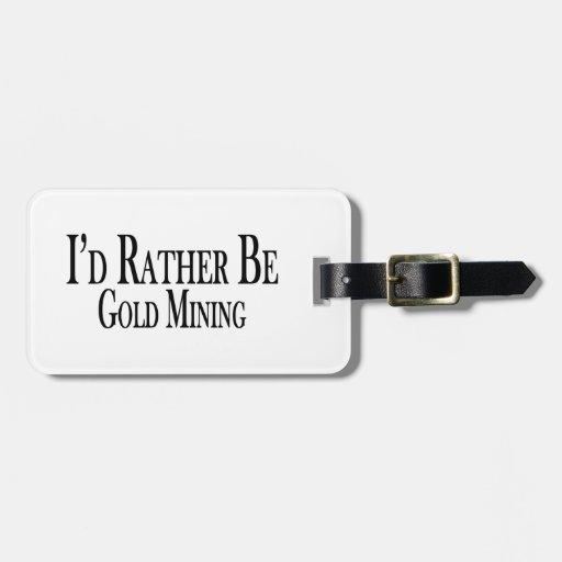Sea bastante minería aurífera etiquetas bolsa