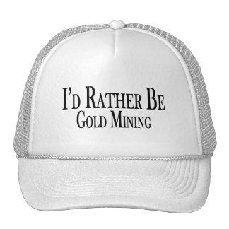 Sea bastante minería aurífera gorra