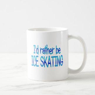 Sea bastante patinaje de hielo taza básica blanca