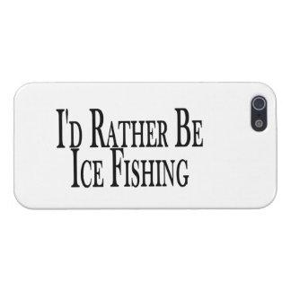 Sea bastante pesca del hielo iPhone 5 funda