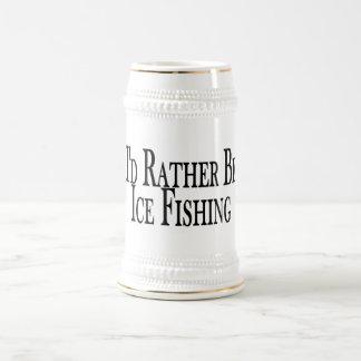 Sea bastante pesca del hielo jarra de cerveza