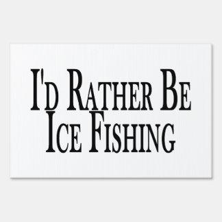 Sea bastante pesca del hielo letreros