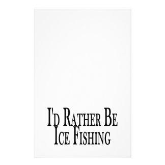 Sea bastante pesca del hielo papelería