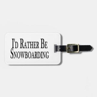 Sea bastante snowboard etiqueta para maleta