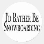 Sea bastante snowboard etiqueta redonda