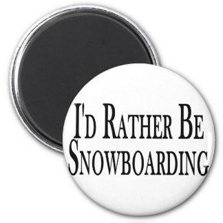 Sea bastante snowboard imán para frigorifico