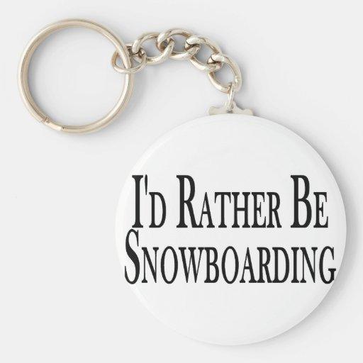 Sea bastante snowboard llavero personalizado