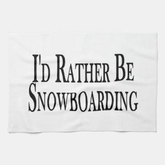 Sea bastante snowboard toalla de mano