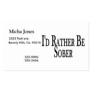 Sea bastante sobrio tarjetas de visita