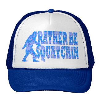 Sea bastante squatchin en camuflaje azul gorras de camionero