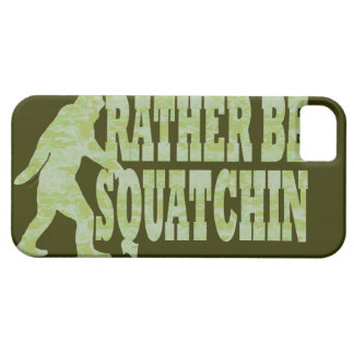 Sea bastante squatchin en camuflaje verde iPhone 5 fundas
