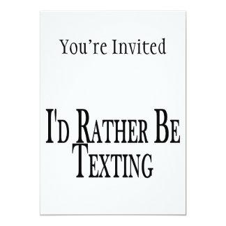 """Sea bastante Texting Invitación 5"""" X 7"""""""
