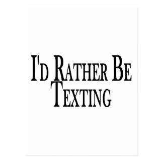 Sea bastante Texting Postales
