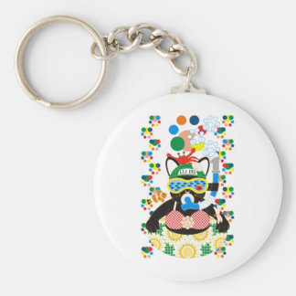 Sea bathing cat colorful (Sea bathing cat in Keychain