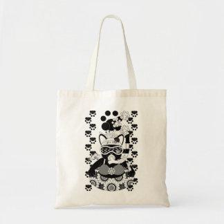 Sea bathing cat monochrome of summer Sea bathing Canvas Bag